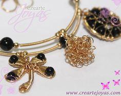Catálogo » Collares » Collar 5 dijes Onix - Crearte Joyas - Isla ...