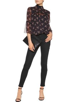Shop on-sale Anna Sui Wildflower lace-trimmed printed crinkled silk-chiffon top. Browse other discount designer Tops & more on The Most Fashionable Fashion Outlet, THE OUTNET.COM