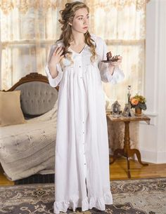 White Nightgown, Vintage Nightgown, White Dress, Vintage Dresses, Pyjamas, Cotton Nighties, Nightgown Pattern, Victorian Trading Company, Nightgowns For Women