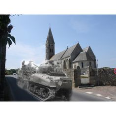 741st A Company Recovered   June 1944 Colleville sur mer A tank from a compnay 741st is recovered after the beach and town have been secured.