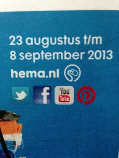 #pinterest icon spotted! #dutch company @HEMA  is using it on their brochure