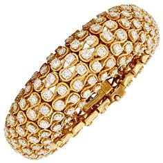 DAVID WEBB BANGLES AND BRACELETS | DAVID WEBB Diamond Bracelet at 1stdibs