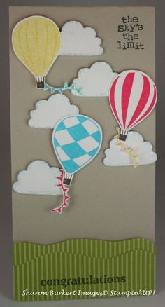 Up, Up and away card.