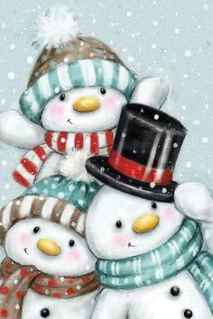 Christmas Rock, Christmas Scenes, Christmas Pictures, Christmas Snowman, All Things Christmas, Vintage Christmas, Christmas Time, Christmas Crafts, Christmas Decorations