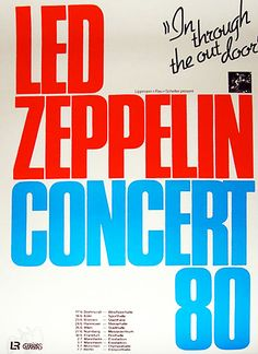 Led Zeppelin- 'In through the out door' concert poster.
