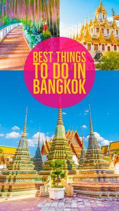The ULTIMATE Guide to Bangkok -- What to Do & See in Bangkok -- Best Day Trips from Bangkok The Ultimate Guide to Bangkok. Here are the best things to do and see in Bangkok, PLUS the most popular day trips from Bangkok. Bangkok Itinerary, Bangkok Travel, Asia Travel, Japan Travel, Bangkok Shopping, Laos Travel, Girl Travel, Croatia Travel, London Travel