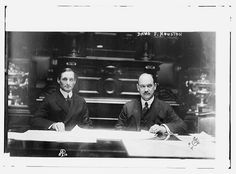 David Franklin Houston (1866-1940) an academic, businessman and politician who served as US Secretary of Agriculture (1913-1920); and William Gibbs McAdoo, Jr. (1863-1941) an American lawyer and political leader who served as United States Secretary of the Treasury (1913-1918).