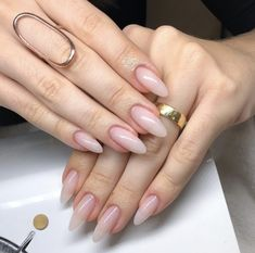 Want some ideas for wedding nail polish designs? This article is a collection of our favorite nail polish designs for your special day. Classy Nails, Stylish Nails, Trendy Nails, Cute Nails, Peach Nails, Pink Nails, Gel Nails, Nail Polish, Nail Nail