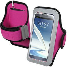 """myLife Pink, Silver, and Black {Rain Resistant Velcro Secure Running Armband} Dual-Fit Jogging Arm Strap Holder for Sony Xperia Z2 and Z3 """"All Ports Accessible"""" myLife Brand Products http://www.amazon.com/dp/B00UMAX5L4/ref=cm_sw_r_pi_dp_Gecjvb19P3QDZ"""