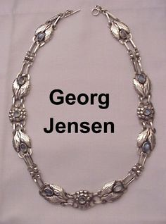 Georg Jensen Sterling & Moonstone Necklace