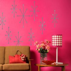 Atomic Wall Decal Set Silver, $24, now featured on Fab.