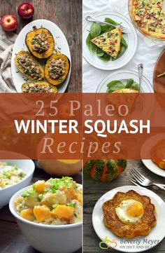 Paleo Winter Squash Recipes provide sweetness, color and extra calories if you're eating Paleo. Clean Recipes, Paleo Recipes, Real Food Recipes, Paleo Food, Eating Paleo, Clean Foods, Fodmap Recipes, Kitchen Recipes, Veggie Recipes