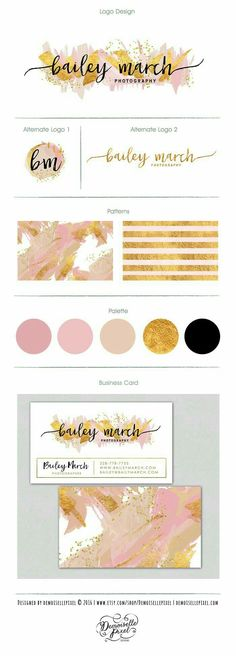 Pink and gold branding inspiration