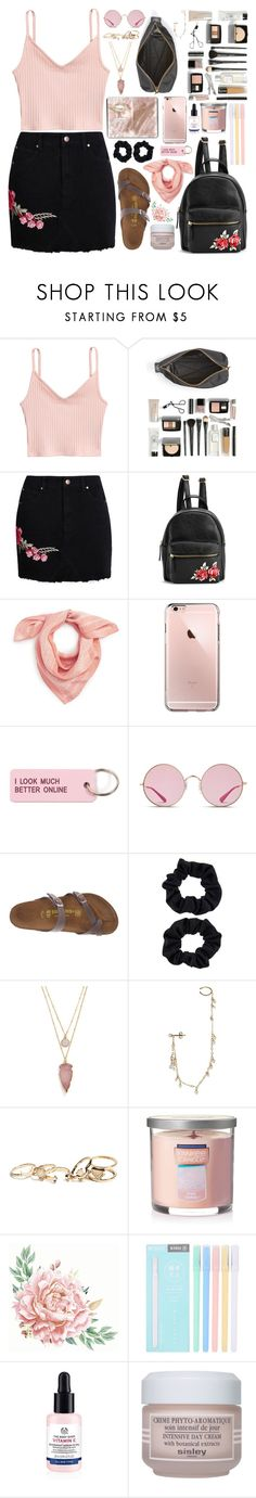 """Cherry Blossom"" by povring ❤ liked on Polyvore featuring Marc by Marc Jacobs, Boohoo, Madewell, Various Projects, Ray-Ban, Birkenstock, Accessorize, BaubleBar, Sweet Pea by Stacy Frati and GUESS"