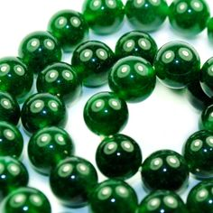Wholesale Lot 8MM Green Emerald Smooth Round Jade by EgoEstate, $5.99