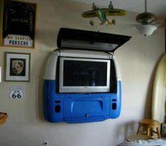 How sweet a VW bus TV