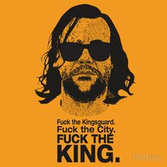 The Hound Vs The Crown: Badass T-Shirt Art by...   Game of Thrones Fan Art