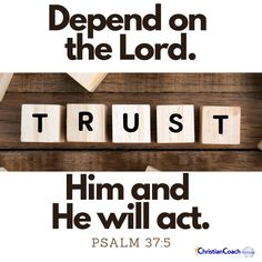 Depend on the Lord. Trust Him and He will act. Psalm 37:5 #godlyquotes #scriptureoftheday #CCInstitute Christian Life Coaching, Life Coach Training, Scripture Of The Day, Quotes About God, Christian Quotes, Psalms, Lord, Scriptures, Trust
