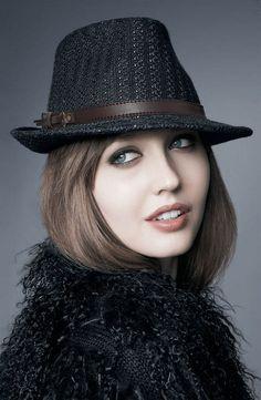 d80c5572cd899 Ladies Dress Shopping. Short Women FashionWomens FashionFashion BlackHigh  FashionFedora Hat ...