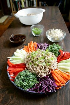 Korean Cold Noodles and Vegetables                                                                  	18
