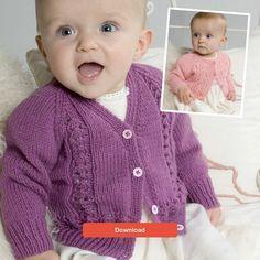 Baby cardigan knitting pattern - download FREE from LoveKnitting!