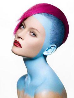 Colorfull Beauty - Make-up Studio Hair, Make Up Art, How To Make, Beauty Makeup, Hair Makeup, Eye Makeup, Extreme Makeup, Extreme Hair, Avant Garde Hair