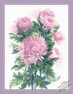 Bouquet of Chrysanthemums - Cross Stitch Craft Kits by RIOLIS - 1595