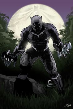 Black Panther - Glen Canlas It's awesome but what the f*ck is doing here batman and Moon Knight? Black Panther Party, Black Panther Marvel, Black Panther Images, Black Panther King, Marvel Comics Art, Marvel Heroes, Marvel Cinematic, Marvel Avengers, Wakanda Marvel