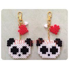 Panda ornaments perler beads by Pare_perlershop
