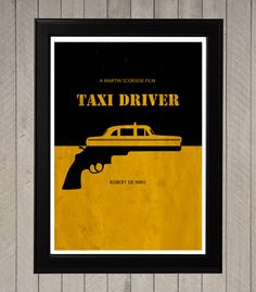 Taxi Driver Minimalist Poster, Movie Poster, Art Print on Etsy, $18.84