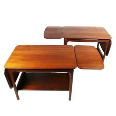 Pair of Drop-Leaf Side Tables by Peter Hvidt
