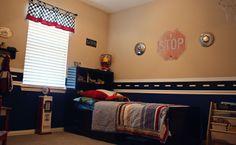 Race car Boy room ideas | Vintage Race Car Room - Boys Room Designs - Decorating Ideas -