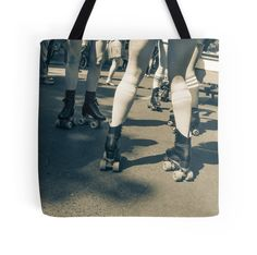 'Carnival Skaters' Tote Bag by Jiggy Creationz Large Bags, Small Bags, Roller Sports, Creative Arts And Crafts, Roller Skating, Skates, Medium Bags, Cotton Tote Bags, Are You The One