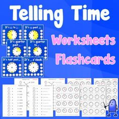 Telling Time, Flashcards and Worksheets Teaching Materials, Teaching Ideas, Teaching Posters, Adobe Acrobat, Cycle 3, Telling Time, Esl, Closer, Worksheets