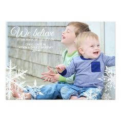 We Believe Holiday Photo Greeting Card Greeting Card Size, Photo Greeting Cards, Merry Christmas Happy Holidays, Christmas Cards, Christmas Holiday, Holiday Photo Cards, Holiday Photos, Believe, Merry Happy