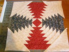 Great tutorial on pineapple block quilting.