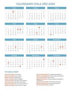 Calendario 2020 Chile Feriados.Las 23 Mejores Imagenes De Calendario Con Feriados Ano 2020