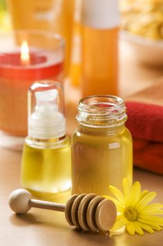 Homemade Beauty Products - I have been using 2/3 olive oil, 1/3 castor oil on my face on and off for a few months and my skin is SO soft!  I can tell when I forget.  All I do is rub it on with clean hands and gently wipe off the excess with a hot, damp washcloth. THIS WOULD BE WORTHWHILE TO TRY!