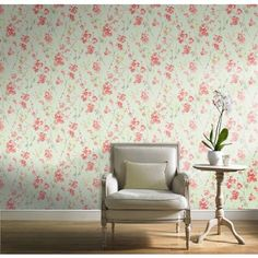 Pastel Florals Cherry Blossom Wallpaper