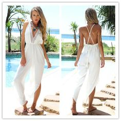 New-Fashion-Swimsuit-Cover-Up-Sexy-Backless-Jumpsuit-Swim-Cover-Up-White-Beach-Wear-Plus-Size.jpg (497×497)