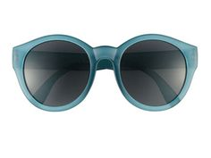 Blue Lucite Round Sunglasses