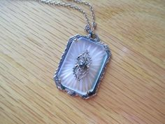 Vintage 1920s Art Deco Camphor Glass Necklace