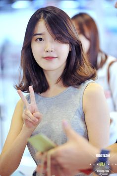 IU short hair
