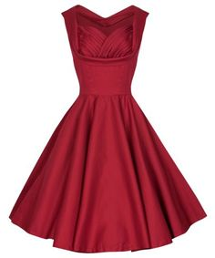 Retro Sweetheart Neck Solid Color Sleeveless Midi Dress