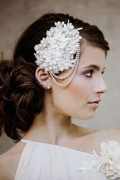 The Mignon Bridal Headpiece by Gadegaard Design, photocredit : www.tinaliv.com