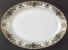 "14"" Oval Serving Platter in the 175 pattern by Noritake"