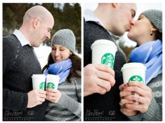 Banff Winter engagement, lifestyle portraits,Outdoor portrait, banff engagement photographer, Starbuck coffee engagement photos, www.kimpayantphotography.com