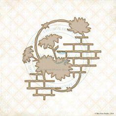 Blue Fern Studios - Chipboard - Daisies Collage,$4.99