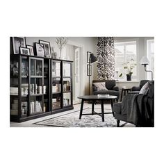 MALSJÖ Glass-door cabinet - 105x141 cm - IKEA
