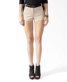 Colorblocked Shorts w/ Belt. Forever 21